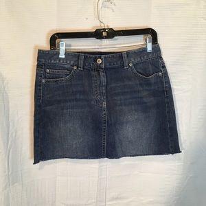 Ann Taylor Demin Mini Skirt